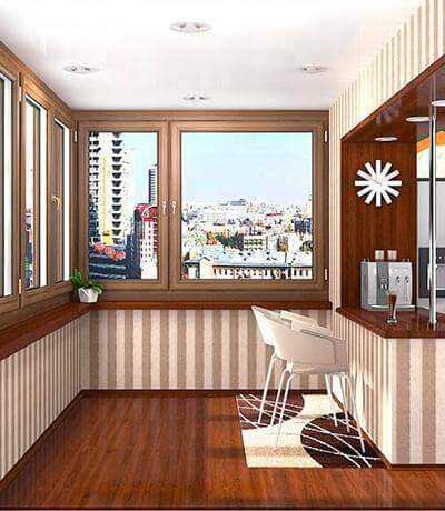 Внутренняя отделка балконов и лоджий. Престиж Балкон.
