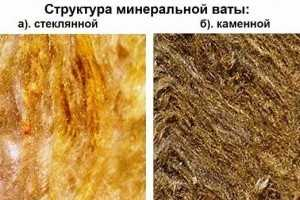 Структура минваты; komfortbalkon.ru