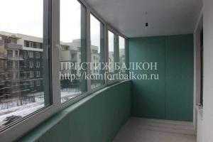 Обшивка внутренняя выполняет компания Престиж Балкон +7 (812) 701-07-79