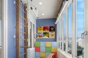 Игровая детская зона на балконе