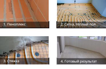 Как мы утепляем пол Престиж балкон