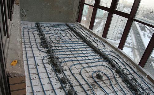 Теплый водяной пол на балконе Престиж балкон