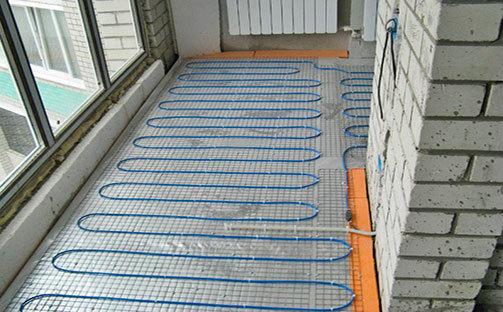 Кабельный теплый пол на балконе и лоджии
