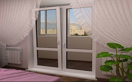 Двустворчатые двери Престиж балкон СПб 701-07-79