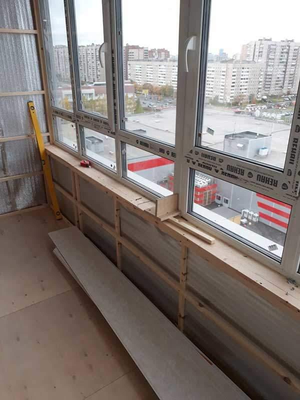 Отделка балкона ЖК Bau Haus Престиж балкон