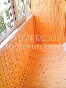 Отделка балкона вагонкой ООО Престиж балкон 701-07-79; 980-24-90