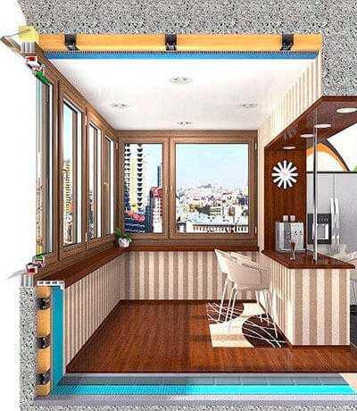 Балкон или лоджия - кухня