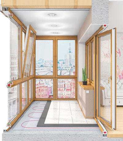 Балкон или лоджия - французский балкон