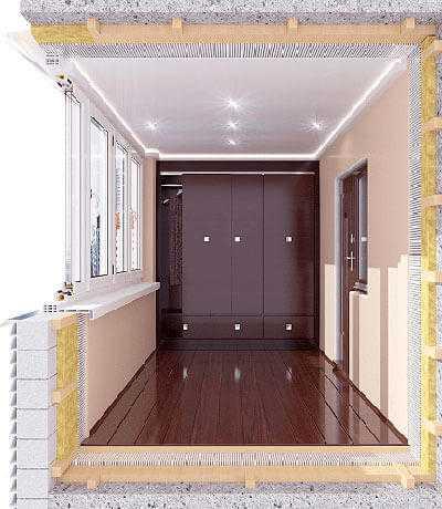 Балкон или лоджия - кладовка и гардероб
