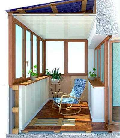 Балкон или лоджия - зимний сад
